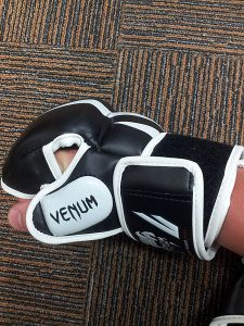 Cleaning inside of MMA gloves