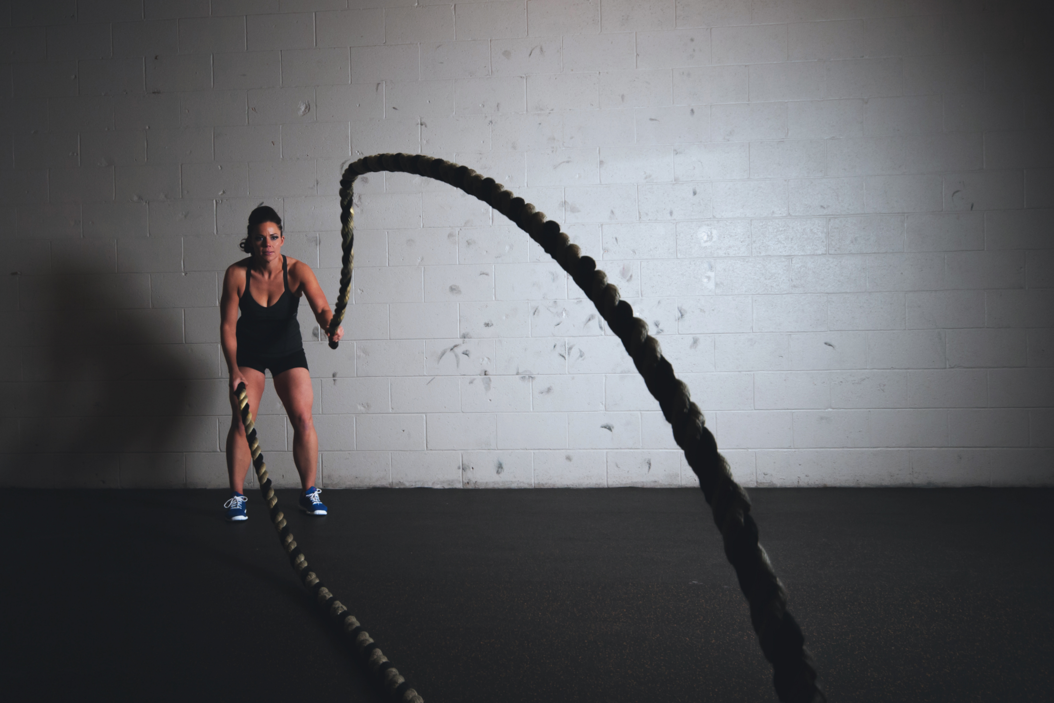 training with battle ropes