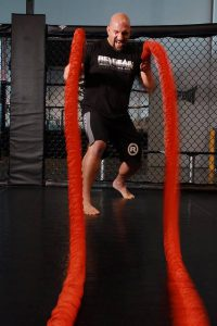 battle rope training for building stamina for boxing